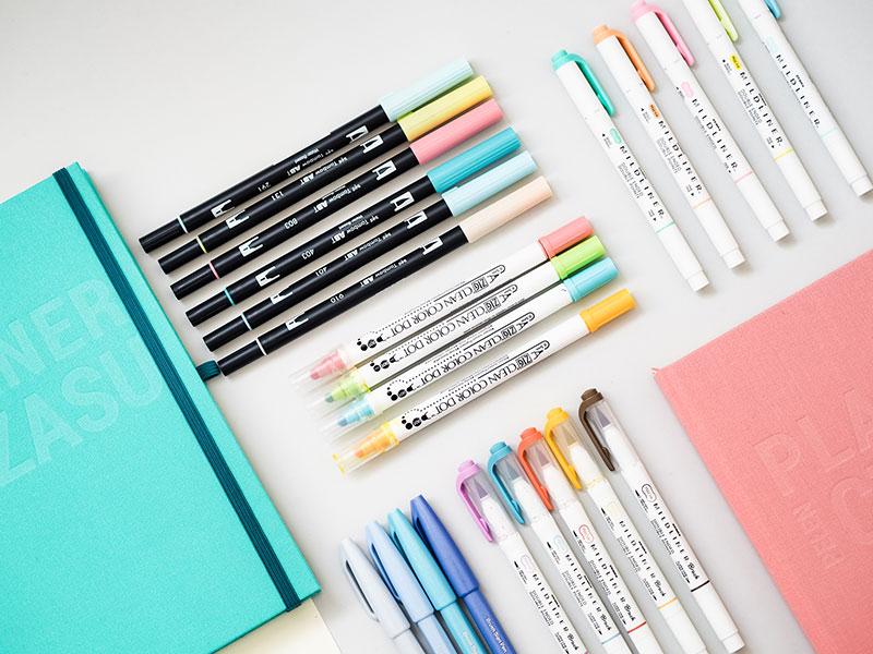 jak dobierać kolory w bullet journalu