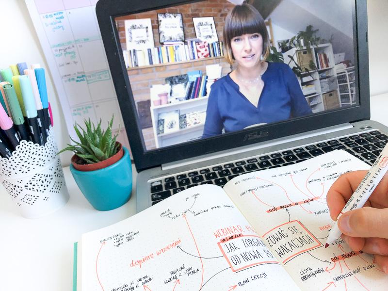 Rysowanie mapy myśli z oglądanego webinaru