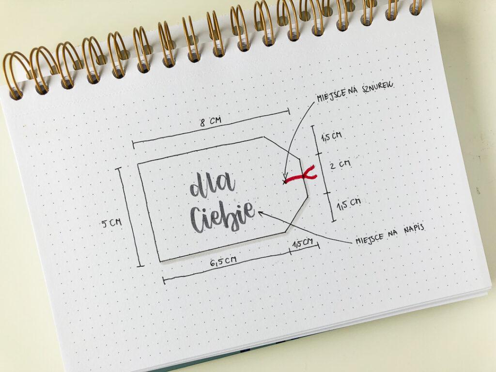 Notes w kropki kreatywny chill. Projekt tagów.