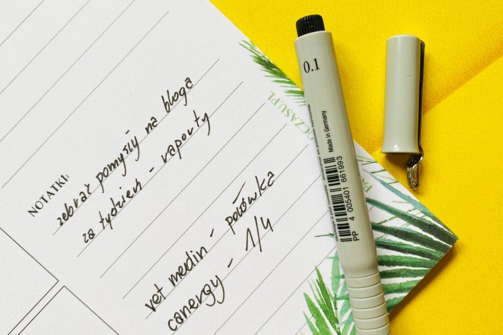 Notatki - rzeczy do zrobienia.